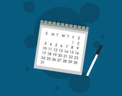 Schedule for filling exam form BE Sem 6 & 8 Regular